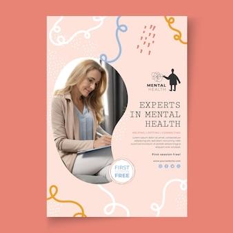 Plantilla de póster de psicología