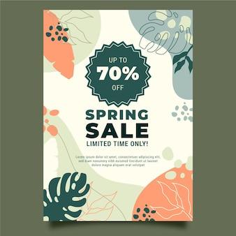 Plantilla de póster de rebajas de primavera