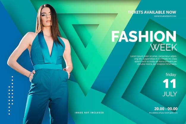 Plantilla de póster de la semana de la moda elegante