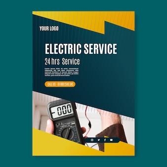 Plantilla de póster de servicio de electricista