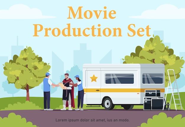 Plantilla de póster de set de producción de películas
