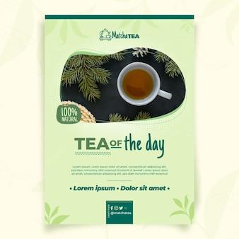 Plantilla de póster de té matcha