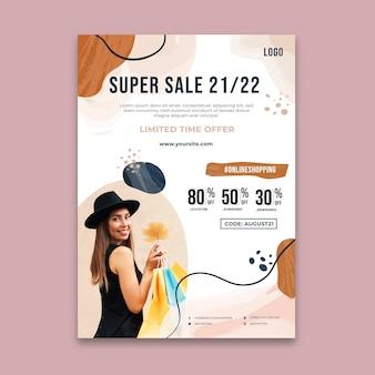 Plantilla de póster de tiempo de compras en línea