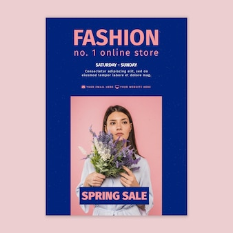 Plantilla de póster de tienda online