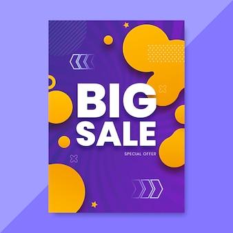 Plantilla de póster de ventas abstracto degradado