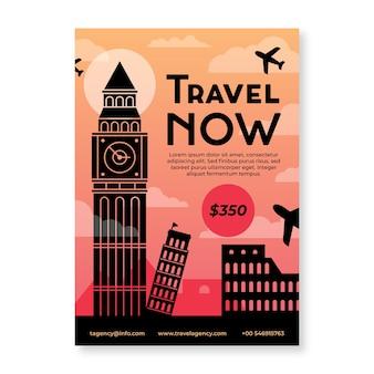 Plantilla de póster de viaje