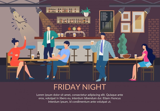 Plantilla de póster del viernes por la noche
