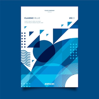 Plantilla de póster / volante abstracto