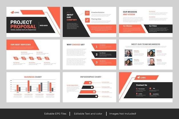 Plantilla de powerpoint - proyecto o propuesta de negocio