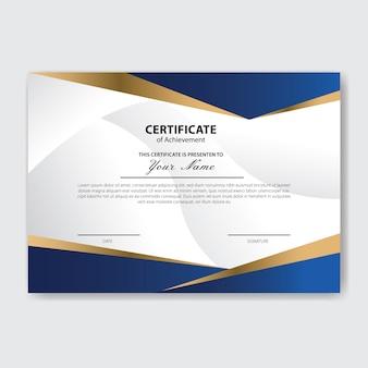 Plantilla de premio de certificado de apreciación creativa