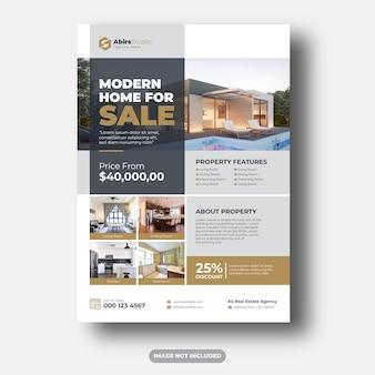Plantilla premium flyer inmobiliario
