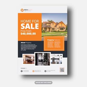 Plantilla premium de flyer profesional inmobiliario limpio y moderno