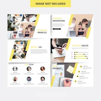 Plantilla de presentación de diapositiva mínima