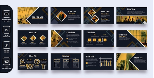 Plantilla de presentación de diapositivas corporativas