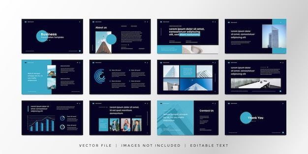 Plantilla de presentación de diapositivas mínima con estilo moderno