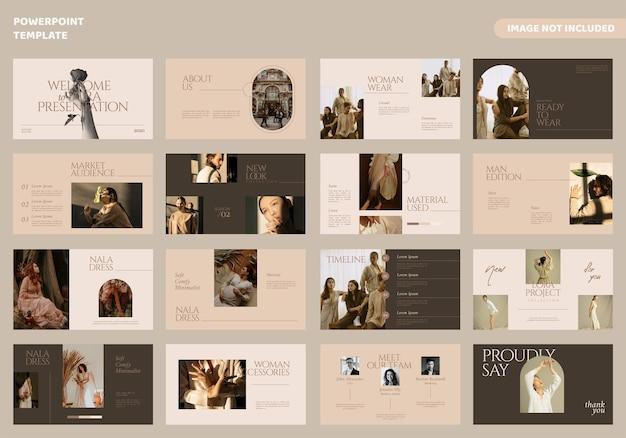 Plantilla de presentación de diapositivas mínimas de moda