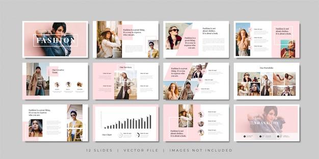 Plantilla de presentación de diapositivas mínimas de moda.