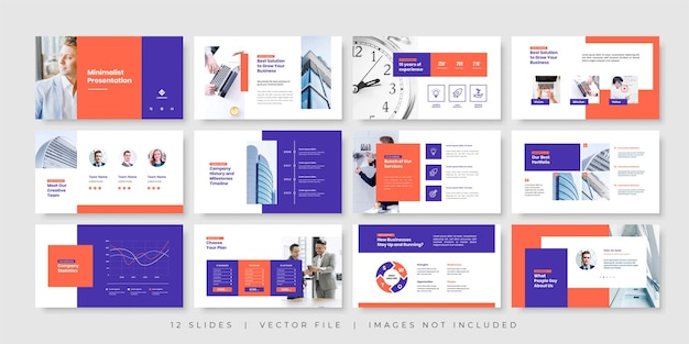 Plantilla de presentación de diapositivas mínimas de negocios
