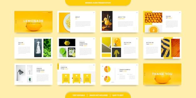 Plantilla de presentación de diapositivas mínimas
