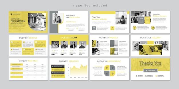 Plantilla de presentación de diapositivas de negocios minimalistas de tema de color 2021