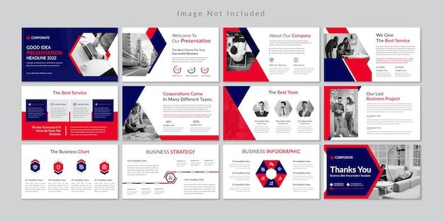 Plantilla de presentación de diapositivas de negocios profesional