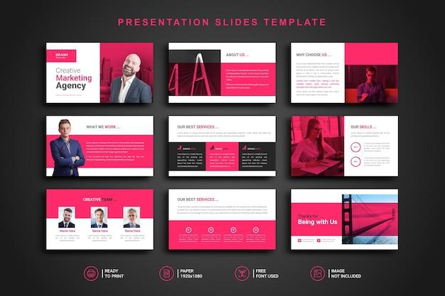 Plantilla de presentación de diapositivas de powerpoint