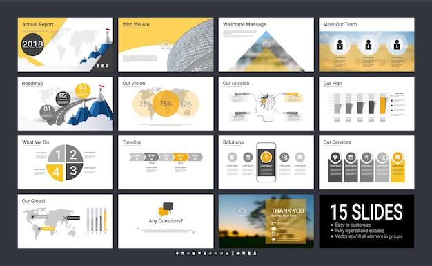 Plantilla de presentación con elementos de infografía