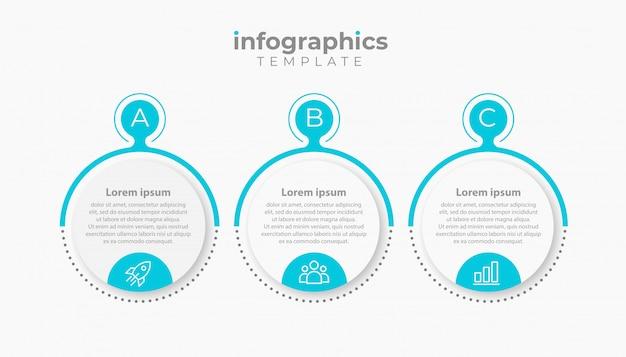 Plantilla de presentación empresarial infografía con 5 opciones. ilustración.