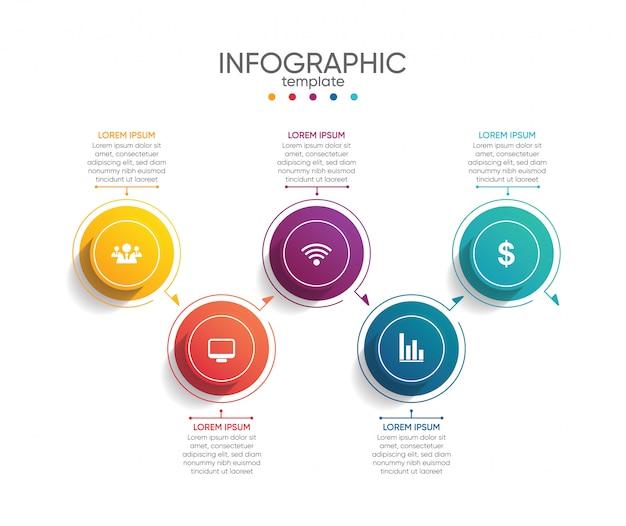 Plantilla de presentación empresarial infografía