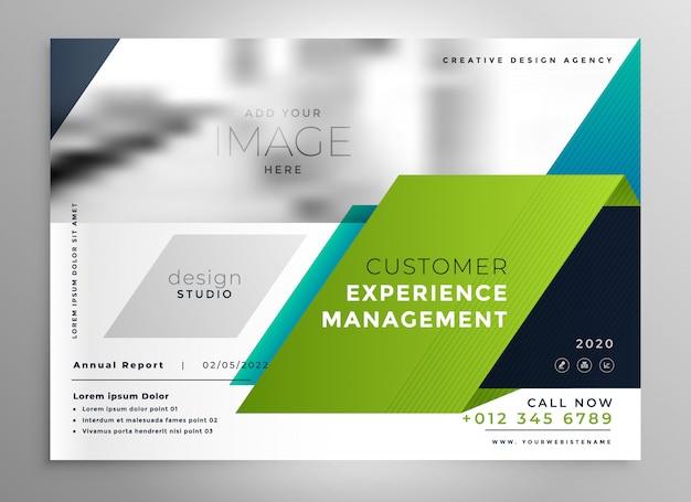 Plantilla de presentación de folleto con estilo abstracto