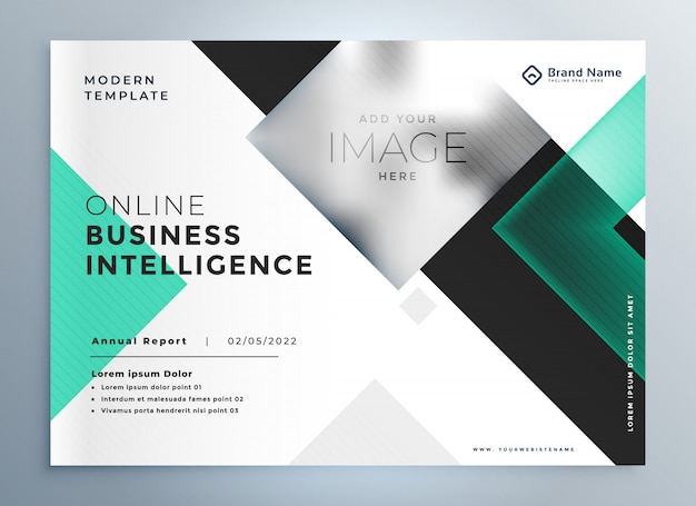 Plantilla de presentación de folleto de negocios profesional elegante