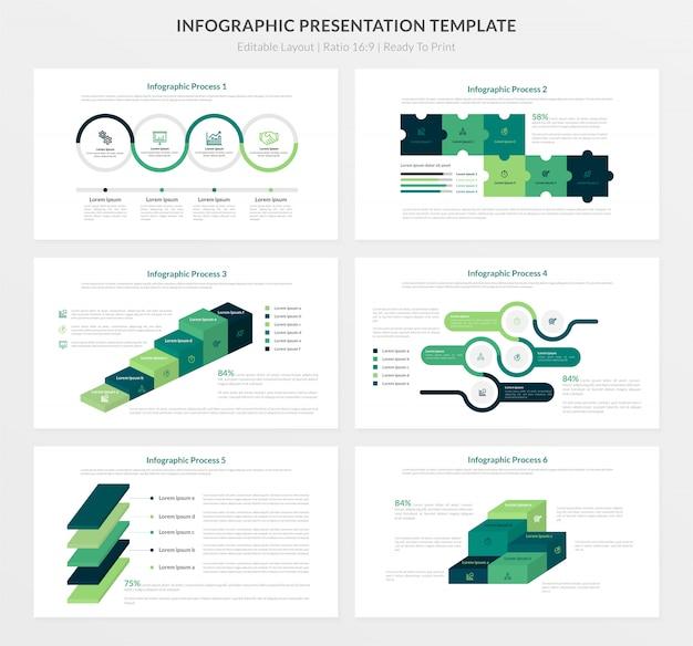 Plantilla de presentación infográfica