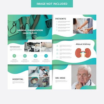 Plantilla de presentación de medical design hospital