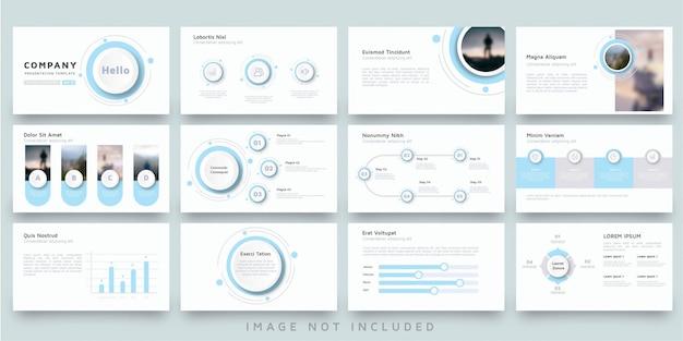 Plantilla de presentación moderna círculo azul para negocios multipropósito