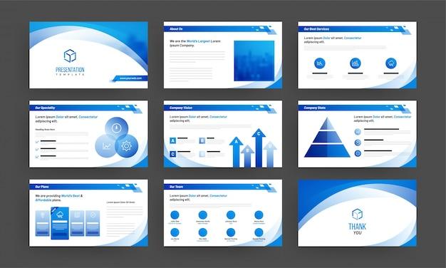 Plantilla de presentación de negocios con elementos de infografía