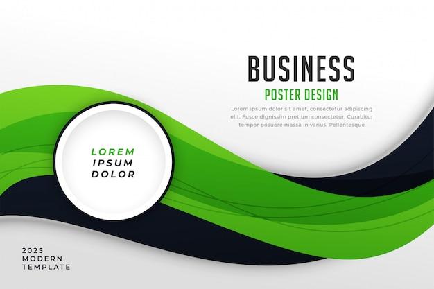 Plantilla de presentación de negocios con estilo tema verde