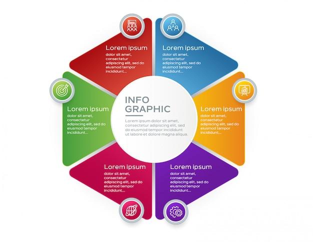 Plantilla de presentación de negocios infografía