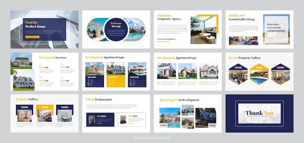 Plantilla de presentación de negocios inmobiliarios