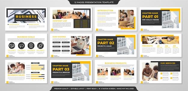 Plantilla de presentación de negocios minimalista estilo premium