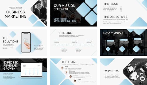 Plantilla de presentación de negocios moderna, perfil corporativo