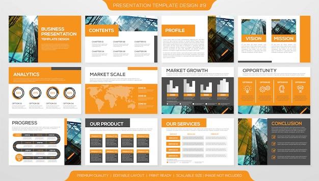 Plantilla de presentación de negocios moderna