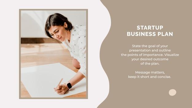 Plantilla de presentación para plan de negocios de inicio