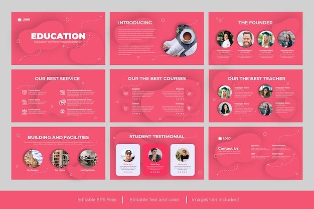 Plantilla de presentación de powerpoint educación