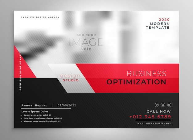 Plantilla de presentación profesional folleto negocio rojo