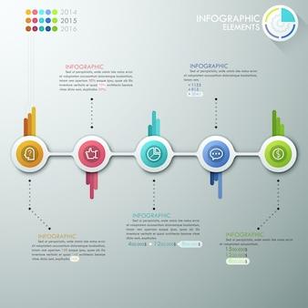 Plantilla de proceso de infografía moderna
