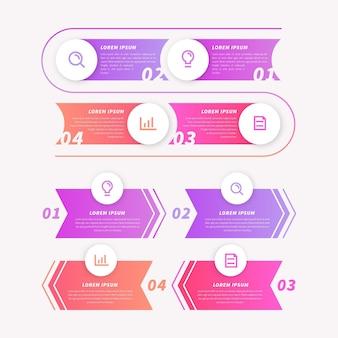 Plantilla de proceso para infografía