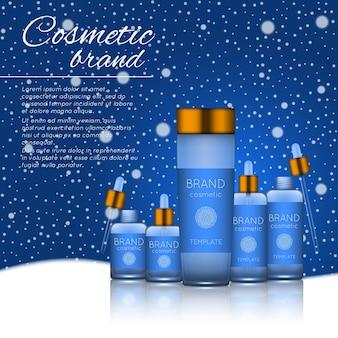 Plantilla de producto cosmético realista