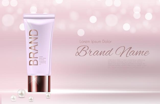 Plantilla de producto de cosméticos de diseño