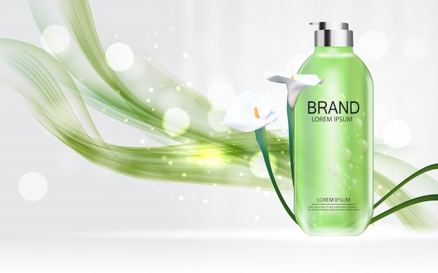 Plantilla de producto de cosméticos