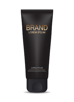 Plantilla de productos cosméticos para anuncios o fondo de revista. ilustración realista